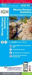 La couverture et les autres extraits de Aiguilles de Bavella, Solenzara, PNR de Corse. 1/25 000