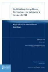 Modélisation des systèmes électroniques de puissance à commande MLI