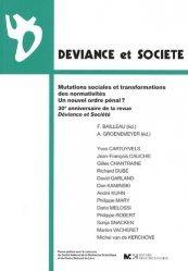 Mutations sociales et transformations des normativités, un nouvel ordre pénal