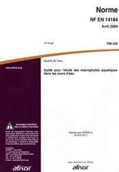Norme NF EN 14184 Qualité de l'eau T90-356