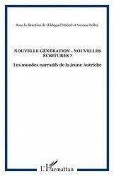 Nouvelles générations - Nouvelles écritures