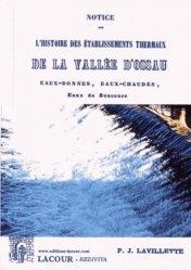 Notice sur l'histoire des établissements thermaux de la vallée d'Ossau