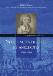 Notes scientifiques et anecdotes