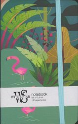 Notebook - Paysage tropical et flamants roses