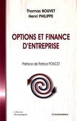 Options et finance d'entreprise