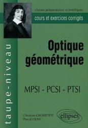 Optique géométrique MPSI PCSI PTSI