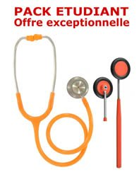 PACK ETUDIANT - Stéthoscope Magister + Marteau réflex Spengler ADULTE - ORANGE