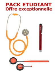PACK ETUDIANT - Stéthoscope Magister - Marteau réflex Spengler  - Lampe stylo à LED Litestick Spengler  - ORANGE
