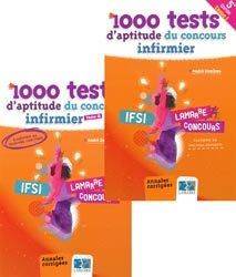 Pack 1000 tests d'aptitude du concours infirmier Tome 1 et Tome 2