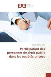Participation des personnes de droit public dans les sociétés privées