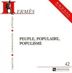 Peuple, populaire, populisme