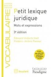 Petit lexique juridique. Mots et expressions, 3e édition