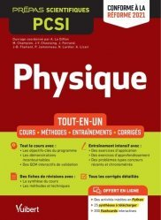 A paraitre dans Mathématiques-Université-Examens, Physique PCSI - Tout-en-un