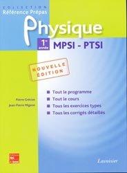 Physique 1ère année MPSI, PTSI