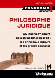 Philosophie juridique. 20 leçons d'histoire de la philosophie du droit de l'antiquité à nos jours