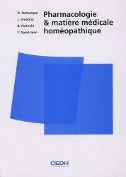 Pharmacologie et matière médicale homéopathique