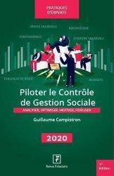 Piloter le contrôle de gestion sociale. Edition 2020