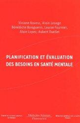 Planification et évaluation des besoins en santé mentale