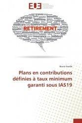 Plans en contributions définies à taux minimum garanti sous IAS 19
