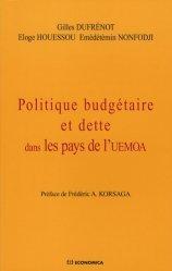 Politique budgétaire et dette dans les pays de l'UEMOA