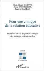Pour une clinique de la relation éducative