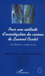 Pour une méthode d'investigation du cinéma de Laurent Cantet