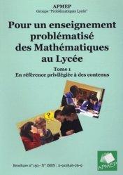 Pour un enseignement problématisé des mathématiques au lycée