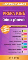 Prépa kiné Chimie générale