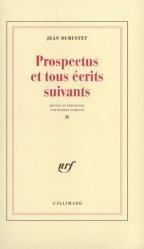 Prospectus et tous écrits suivants. Tome 4