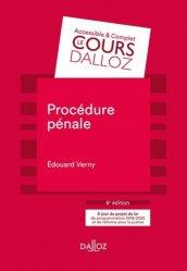Procédure pénale. 6e édition