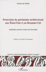 Protection du patrimoine architectural aux Etats-Unis et au Royaume-Uni. Initiative privée à but non lucratif