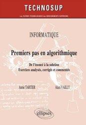 La couverture et les autres extraits de Algorithmique Raisonner pour concevoir