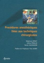 La couverture et les autres extraits de Procédures anesthésiques liées aux techniques chirurgicales