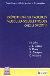 Prévention des troubles musculo-squelettiques chez le sportif