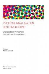 Professionnalisation des formations