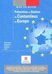 Prévention et gestion du contentieux en Europe