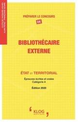 La couverture et les autres extraits de Préparer le concours de bibliothécaire interne. Etat et territorial, épreuves écrites et orales catégorie A, Edition 2015