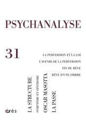 Psychanalyse N° 31, Novembre 2014