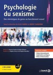PSYCHOLOGIE DU SEXISME : DES STEREOTYPES DU GENRE AU HARCELEMENT SEXUEL  |