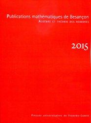 Publications mathématiques de Besançon 2015