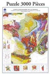 Puzzle carte géologique de la France