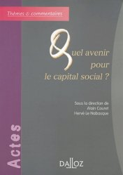 Quel avenir pour le capital social