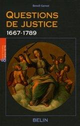 Questions de justice. 1667-1789