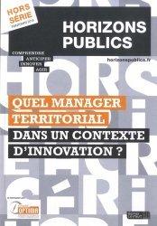 Quel manager territorial dans un contexte d'innovation