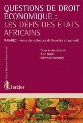 Questions de droit économique : Les défis des états africains