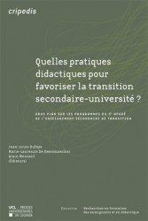 Quelles pratiques didactiques pour favoriser la transition secondaire-université