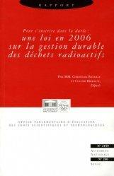 Rapport sur l'état d'avancement et les perspectives des recherches sur la gestion des déchets radioactifs