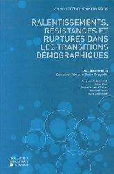 Ralentissements, résistances et ruptures dans les transitions démographiques