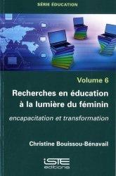 Recherches en éducation à la lumière du féminin