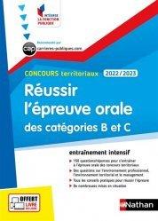 Réussir l'épreuve orale des catégories B et C Concours territoriaux